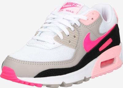Nike Sportswear Sneaker 'AIR MAX 90' in dunkelbeige / neonpink / weiß, Produktansicht