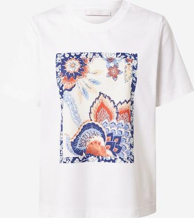 Rich & Royal T-shirt en crème / marine / bleu clair / rouge feu / blanc, Vue avec produit