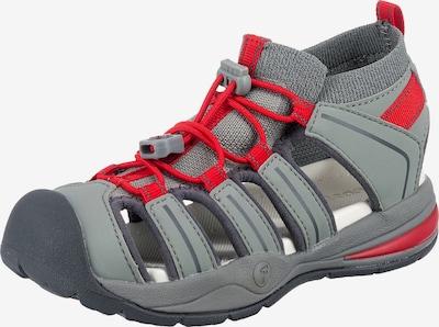 RICOSTA Sandale in grau / rot, Produktansicht