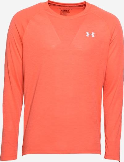 UNDER ARMOUR T-Shirt fonctionnel 'Streaker' en rouge orangé / blanc, Vue avec produit