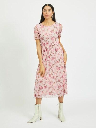 VILA Kleid in grün / rosé / altrosa, Modelansicht