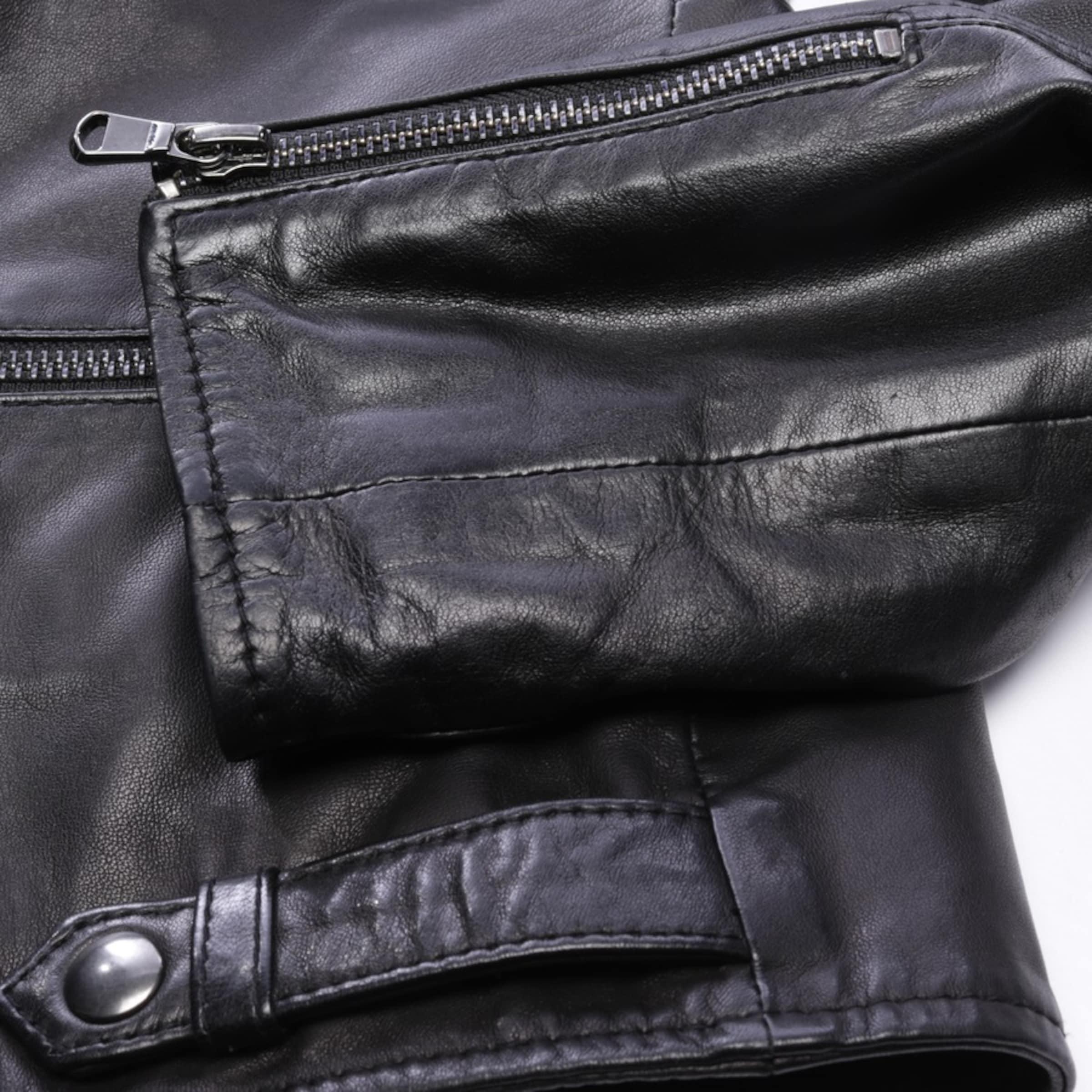 OAKWOOD Lederjacke in S in schwarz
