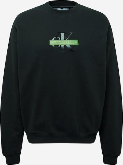 Calvin Klein Jeans Sweatshirt in hellgrün / schwarz / weiß, Produktansicht