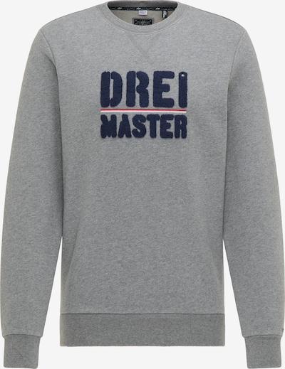 DreiMaster Maritim Sweatshirt in navy / grau / rot / weiß, Produktansicht