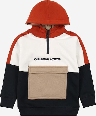 STACCATO Sweatshirt in marine / braun / taupe / schwarz / weiß, Produktansicht