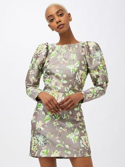 Pimkie Kleid in braun / silbergrau / hellgrün / dunkelgrün / weiß, Modelansicht