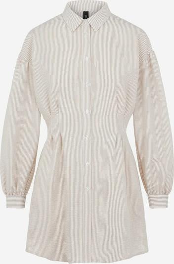 Y.A.S Langarmhemd in beige / weiß, Produktansicht