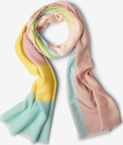 CECIL Schal in gelb / mint / hellgrün / rosa, Produktansicht