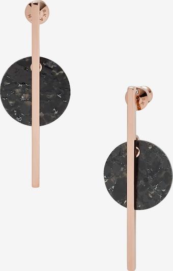 SKAGEN Ohrringe in rosegold / schwarz, Produktansicht