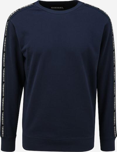 DIESEL Sweatshirt i mørkeblå / sort / hvid, Produktvisning