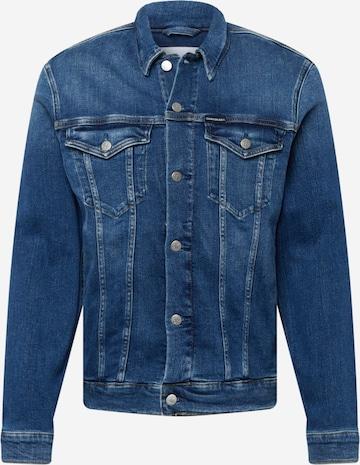 Calvin Klein Jeans Kevad-sügisjope, värv sinine