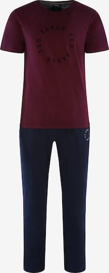 """Ted Baker Pyjama lang ' Kurzarm """"Round Logo"""" ' in de kleur Donkerblauw / Bordeaux, Productweergave"""