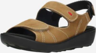 Wolky Sandale in hellbraun / rot, Produktansicht
