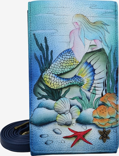 ANUSCHKA Brieftasche Little Mermaid aus handbemaltem Leder in mischfarben, Produktansicht