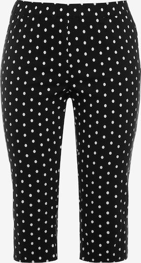 Ulla Popken Hose in schwarz / weiß, Produktansicht