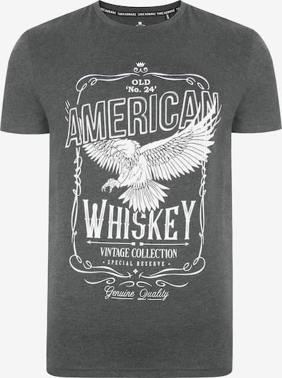 Threadbare Shirt 'Gregory' in grau / weiß, Produktansicht