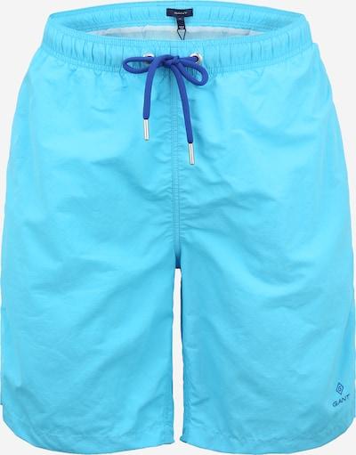 GANT Shorts de bain en bleu marine / turquoise, Vue avec produit