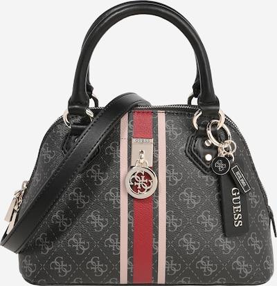 GUESS Håndtaske 'Jensen' i beige / mørkegrå / rød, Produktvisning