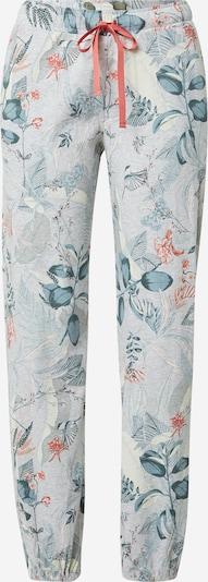 TRIUMPH Pantalon de pyjama 'Mix & Match' en bleu fumé / bleu clair / kaki / saumon, Vue avec produit