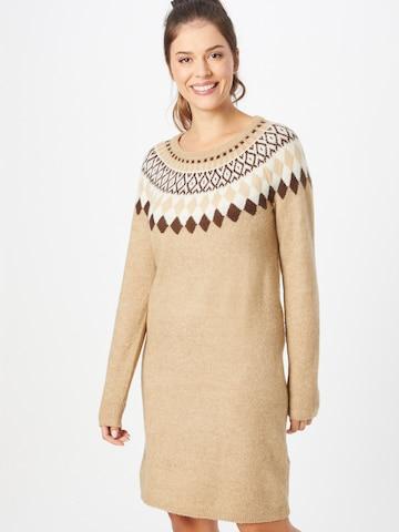 Fransa Gebreide jurk 'Ceisland 4' in Bruin