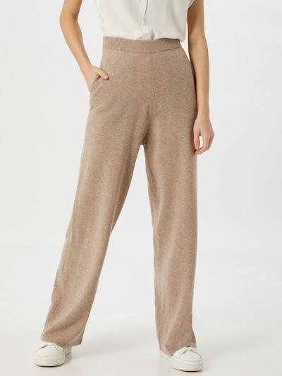 Samsoe Samsoe Pantalon 'Amaris' en beige / marron, Vue avec modèle