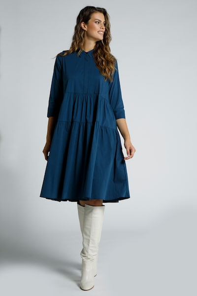 Ulla Popken Kleid in dunkelblau, Modelansicht