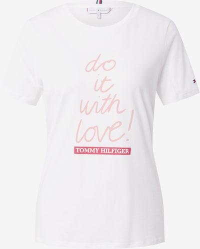 TOMMY HILFIGER T-Shirt in ecru / hellpink / rot, Produktansicht
