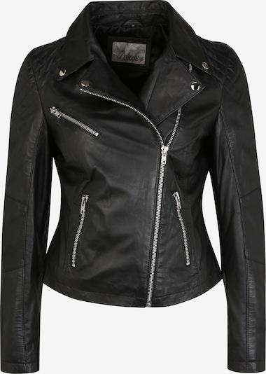 7ELEVEN Coole Lederjacke 'Emilia' mit asymmetrischem Bikerkragen in schwarz, Produktansicht