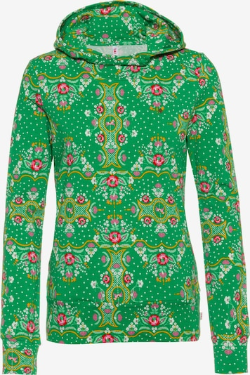 Blutsgeschwister Sweatshirt 'Hummel Hummel' in goldgelb / grün / rot / weiß, Produktansicht