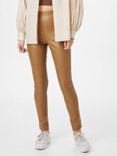 SOAKED IN LUXURY Kalhoty - karamelová: Pohled zepředu