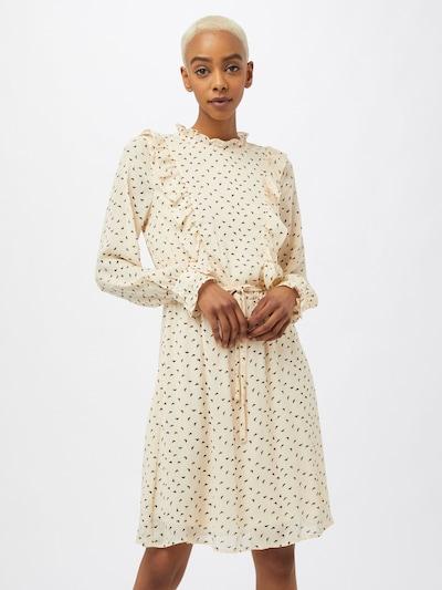 Rochie tip bluză ICHI pe negru / alb lână, Vizualizare model