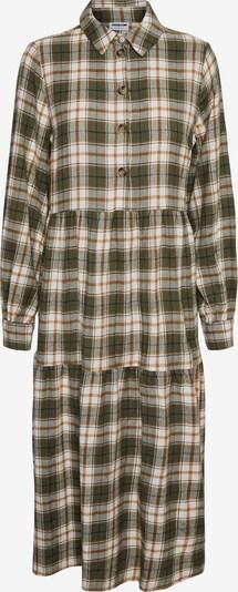 Rochie tip bluză 'Erik' Noisy may pe maro / oliv / alb, Vizualizare produs