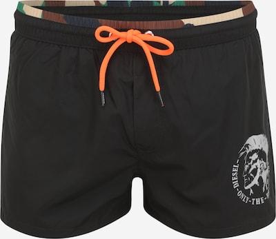DIESEL Plavecké šortky - hnědá / khaki / černá / bílá, Produkt