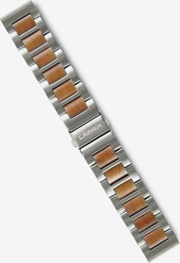 LAiMER Wechselband in cognac / silber, Produktansicht