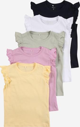 NAME IT Shirt 'SEDONNA' in navy / hellgelb / stone / fuchsia / weiß, Produktansicht