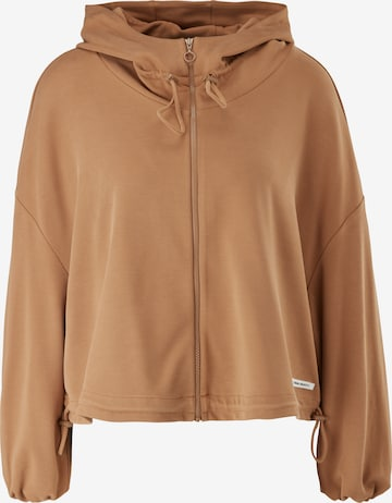 comma casual identity Zip-Up Hoodie in Brown