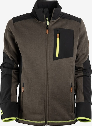 FORSBERG Jacke 'Leif II' in oliv / neongrün / schwarz, Produktansicht