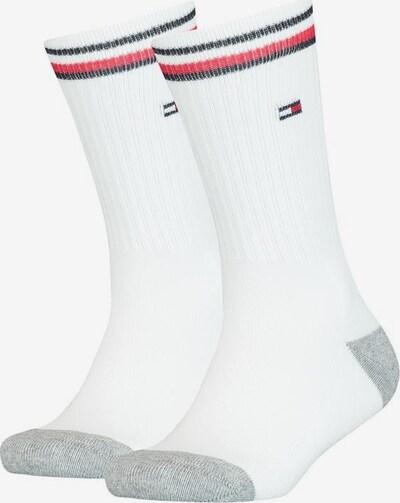 TOMMY HILFIGER Socken in navy / grau / rot / weiß, Produktansicht