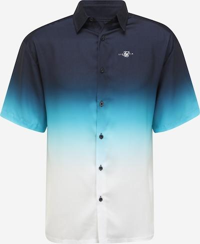 SikSilk Hemd in navy / hellblau / weiß, Produktansicht