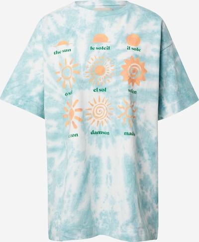 Damson Madder Shirt in hellblau / grün / pfirsich / weiß, Produktansicht