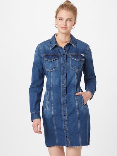 GUESS Kleid in blue denim, Modelansicht