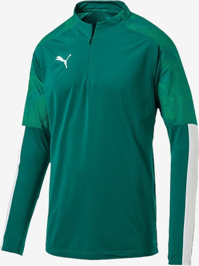 PUMA Sweatshirt in dunkelgrün: Frontalansicht