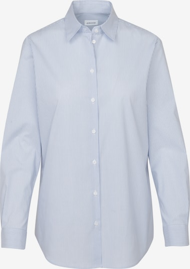 SEIDENSTICKER Hemdbluse in hellblau / weiß, Produktansicht