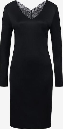 Hanro Chemise de nuit ' Wanda, 100cm ' en noir, Vue avec produit