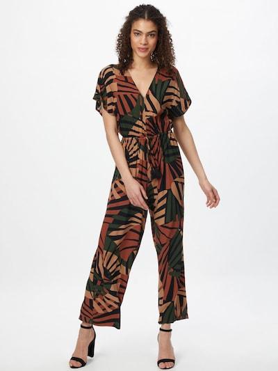 Molly BRACKEN Jumpsuit in rostbraun / hellbraun / dunkelgrün / schwarz, Modelansicht
