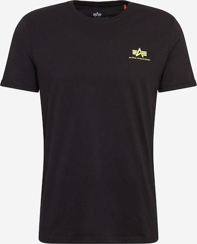 ALPHA INDUSTRIES T-Shirt in neongelb / schwarz, Produktansicht