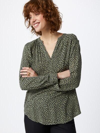 ESPRIT Bluse in khaki / schwarz, Modelansicht