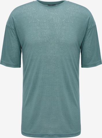 Magdeburg Los Angeles Shirt 'Ultrathin Chinois' in Groen