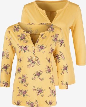 LASCANA Shirt in Yellow