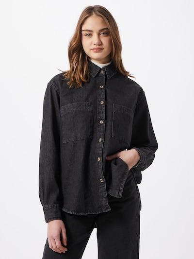 Urban Classics Bluse in black denim, Modelansicht
